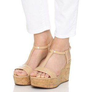 Kate spade tallin wedge cork strappy sandal